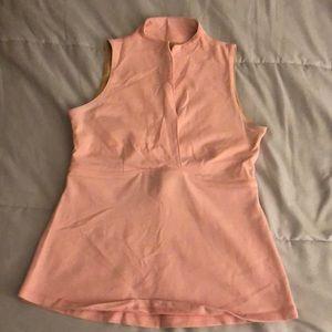 Salmon Pink Lululemon Athletic Workout Yoga Top